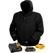 DeWalt® DCHJ061C1-L 20V/12V MAX* Black Hooded Heated Jacket Kit - L
