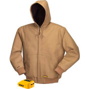 DeWalt® DCHJ064B-L 20V/12VMAX* Khaki Heated Hooded Jacket Only - L
