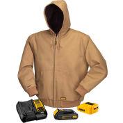 DeWalt® DCHJ064C1-XL 20V/12V MAX* Khaki Hooded Heated Jacket Kit - XL