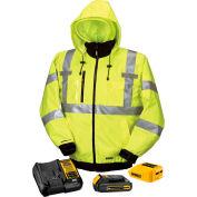 DeWalt® DCHJ070C1-2XL 20V/12V MAX* Heated High-Visibility 3-In-1 Hooded Jacket Kit - 2X