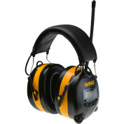 DeWALT® DPG15DW Earmuff With Digital AM/FM, NRR 25dB, Black/Yellow