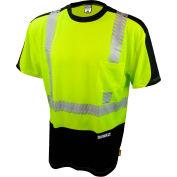 DeWalt® DST11B-2PGB-3X ANSI Class 2 Moisture Wicking T-Shirt 3XL