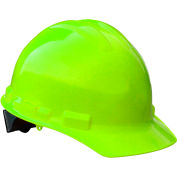 Radians® GHP4 Granite™ Cap Style Hard Hat, 4-Point Pinlock Suspension, Hi-Vis Green