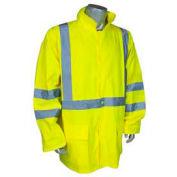 Radians RW10-3S1Y Lightweight Rain Jacket, Hi-Viz Lime, M
