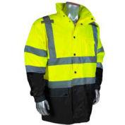 Radians RW30-3Z1Y General Purpose Rain Jacket, Hi-Viz Lime, XL