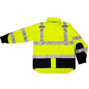 Radians RW32-3Z1Y Heavy Duty Rip Stop Waterproof Rain Jacket, Hi-Viz Lime, XL