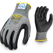 DeWALT® DPGD809XL Cut Resistant Glove, Foam Nitrile Palm, Gray/Black, XL, 1 Pair - Pkg Qty 12