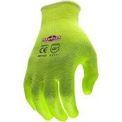 Radians® RWG531 Radwear™ Silver Series™ Hi-Viz Grip Gloves, M, 1 Dozen