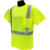 Radians® ST11 Class 2 T-Shirt W/ Max-Dri™ Moisture Wicking Mesh, Hi-Vis Green, M - Pkg Qty 12