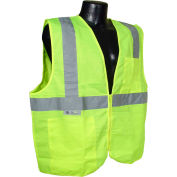 Radians® SV2Z Economy Class 2 Solid Safety Vest W/ Zipper, Hi-Vis Green, M - Pkg Qty 12