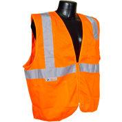 Radians® SV2Z Economy Class 2 Mesh Safety Vest W/ Zipper, Hi-Vis Orange, L - Pkg Qty 12