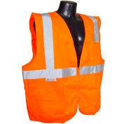 Radians® SV2Z Economy Class 2 Solid Safety Vest W/ Zipper, Hi-Vis Orange, 4XL - Pkg Qty 12
