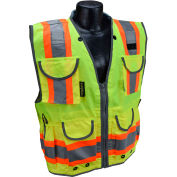 Radians® Type R Class 2 Heavy Duty Engineer Vest, Green, XL, SV55-2ZGD-XL