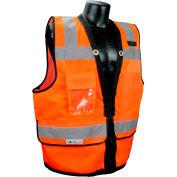 Radians® Type R Class 2 Heavy Duty Surveyor Safety Vest, Zipper, XL, Orange, SV59Z-2ZOD-XL