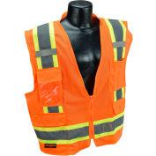 Radians® Type R Class 2 Two-Tone Surveyor Safety Vest, 3XL, Orange, SV6O3X