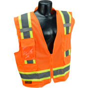 Radians® Type R Class 2 Two-Tone Surveyor Safety Vest, 4XL, Orange, SV6O4X