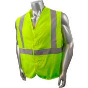 Radians® Hi-Vis Flame Resistant Solid Safety Vest, Type R Class 2, 5XL, Green, SV92E-2VGS-5X