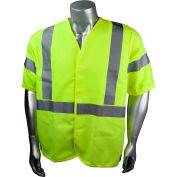 Radians® Hi-Vis Flame Resistant Solid Safety Vest, Type R Class 3, 5XL, Green, SV92E-3VGSFR-5X