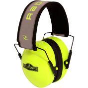 Radians® TR0HVG-BX Terminator™ Folding Ear Muff, High-Vis Lime