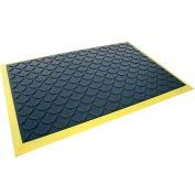 "Rhino Mats Comfort Craft Ultimate Comfort 3/4"" Thick Diamond Anti-Fatigue Mat, 3' x 5' Black/Yellow"
