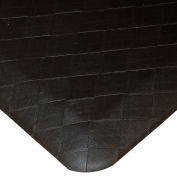 "Rhino Mats Comfort Craft Premium 3/4"" Thick Navaho Plait Anti-Fatigue Mat, 2' x 6' Black"