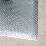 "Rhino Mats Diamond Brite 1/2"" Thick Diamond Pattern Anti-Fatigue Mat, 2' x 3' Reflective Metallic"