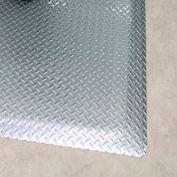 """Rhino Mats Diamond Brite 1/2"""" Thick Diamond Pattern Anti-Fatigue Mat, 3' x 5' Reflective Metallic"""