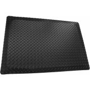 "Rhino Mat 5/32"" Thick Conductive Diamond Table Runner, 36""W Up To 75ft Black - ECD36"