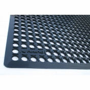 "Rhino Mats K-Series 1/2"" Thick Anti-Fatigue Drain-Thru Mat, 3' x 10' Black - KCT310"