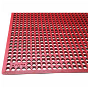 "Rhino Mats K-Series 1/2"" Thick Anti-Fatigue Drain-Thru Mat, 3' x 10' Red - KCT310R"