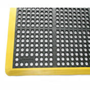 "Rhino Mats K-Series Safety Tract Anti Fatigue Drain Mat 7/8"" Thick 40"" x 100"" Black/Yellow"