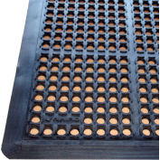 "Rhino Mats K-Series Premium 7/8"" Thick Anti-Fatigue Drain-Thru Mat, 40"" x 124"" Black - KST4124B"