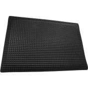 "Rhino Mat 1/2"" Thick Conductive Reflex Anti-Fatigue Mat, 2' x 3' Black - RLXC-2436"