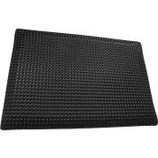 "Rhino Mat 1/2"" Thick Conductive Reflex Anti-Fatigue Mat, 2' x 3' Black - RLXC-2436"