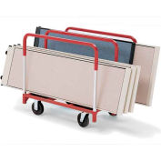 """Raymond Products Panel 3828 Mover 8"""" Quiet Poly Casters, 2 Rigid & Swivel, 3 Standard Uprights"""