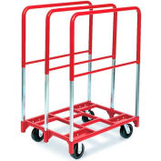 "Raymond Products 3846 Panel Mover 6"" Phenolic Casters, 2 Fixed & Swivel, 3 Tall Uprights"