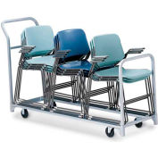 """Folding/Stacking Chair Truck, 68""""L x 23""""W, All Steel"""