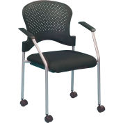 Eurotech Breeze Side Chair - Black Fabric - Non-Adjustable Arms