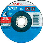 "BOSCH® GW27LM450 Grinding Abrasive Wheel 4-1/2"" x 1/4"" x 7/8"" Arbor Type 27 , 30 Grit - Pkg Qty 10"