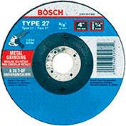 BOSCH® GW27M501, 5 X 1/4 X 5/8-11 Type 27 Grinding Wheel A30T-Bf For Metal (Bulk)