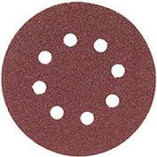 "BOSCH® SR5R060, 5"" Hook & Loop Sanding Disc, 8-Hole, Red, 60 Grit (5Pk)"