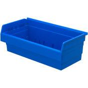 "Akro-Mils ShelfMax® Plastic Shelf Bin Nestable 30820 - 22-1/2""W x 11-5/8""D x 8""H, Blue - Pkg Qty 4"