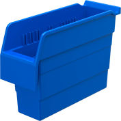 "Akro-Mils ShelfMax® Plastic Shelf Bin Nestable 30840 - 4-1/8""W x 11-5/8""D x 8""H, Blue - Pkg Qty 16"