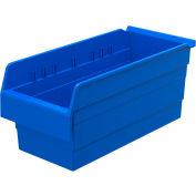 "Akro-Mils ShelfMax® Plastic Shelf Bin Nestable 30888 - 8-1/4""W x 17-5/8""D x 8""H, Blue - Pkg Qty 8"