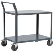 "Akro-Mils® Steel Shelf Cart 30x60 2 Lip Up Swayback Handle 10"" Pneumatic R1S10FP23060LU"
