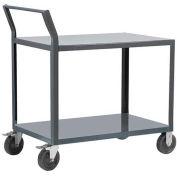 "Akro-Mils® Steel Shelf Cart 18x30 2 Lip Down Sway Back Handle 5"" Polyolefin R1S5HR2LD1830"