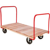 "Akro-Mils® Hardwood Deck Platform Truck 2 Open Handle 6"" Mold-On 24x48 RPT24481B5M6"