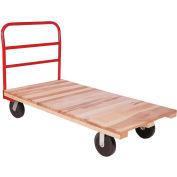 "Akro-Mils® Hardwood Deck Truck 1 Cross Bar Handle 6"" Polyolefin 24x48 RPT24481C5P6"