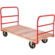 "Akro-Mils® Hardwood Deck Truck 2 Cross Bar Handle 6"" Mold On Rubber 27x54 RPT27541D5M6"