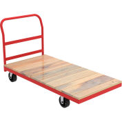 "Akro-Mils® Steel Frame Hardwood Deck Truck 1 Cross Bar Handle 6"" Mold-On 36x72 RPT36722C5M6"